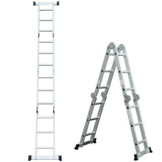 Advindeq Aluminum Multi-Purpose Ladder, 4 articulated joints ADM103