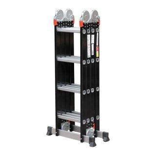 Advindeq Aluminum Multi-Purpose Ladder, 4 articulated joints ADM104