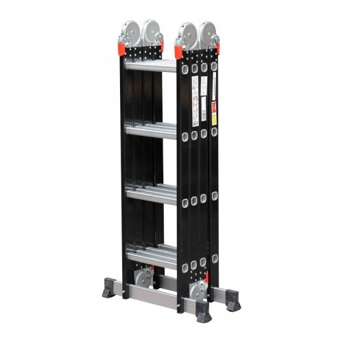 Advindeq Aluminum Multi-Purpose Ladder, 4 articulated joints ADM104