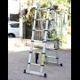 Advindeq Aluminum A-type Multi-Purpose Telescoping Ladder ADT706B