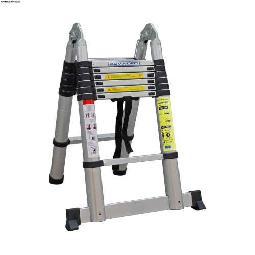 Advindeq Aluminum A-type Multi-Purpose Telescoping Ladder ADT707B