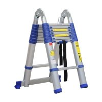 Advindeq Aluminum A-type Multi-Purpose Telescoping Ladder ADT708B-Blue