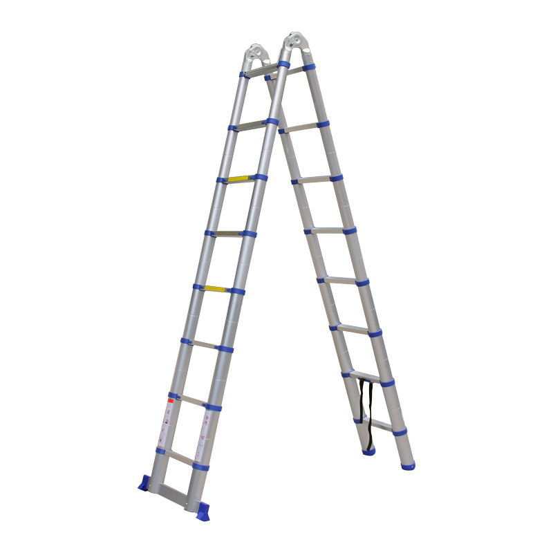 Advindeq Aluminum A Type Multi Purpose Telescoping Ladder