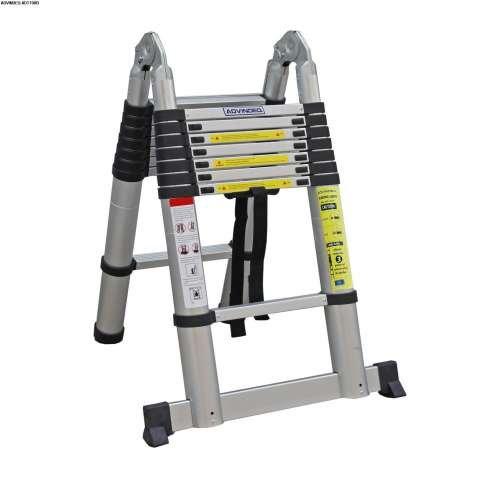 Advindeq Aluminum A-type Multi-Purpose Telescoping Ladder ADT708B