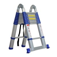 Advindeq Aluminum A-type Multi-Purpose Telescoping Ladder ADT709B