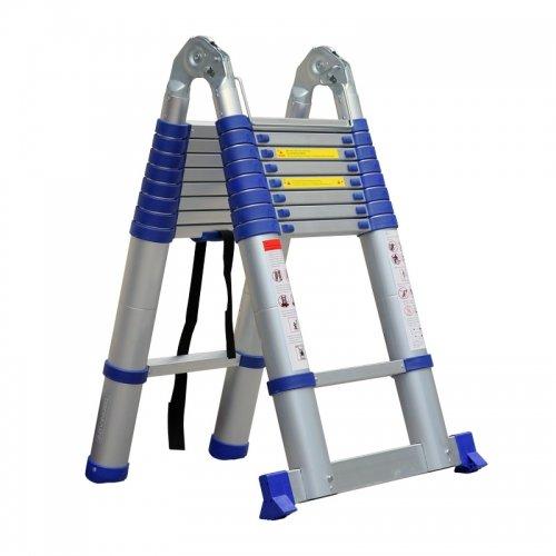 Advindeq Aluminum A-type Multi-Purpose Telescoping Ladder ADT709B