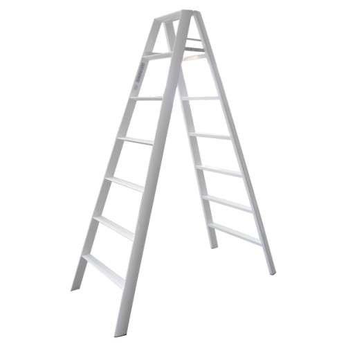 Advindeq Step Ladder AV-307, 14steps (White)