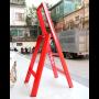 Advindeq Step Stool - AV303, 3- step (Red)