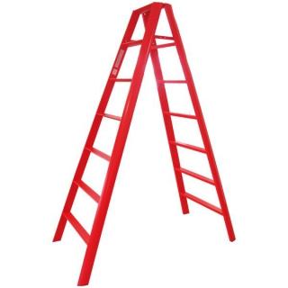 Advindeq Step Ladder AV-307, 14steps (Red)