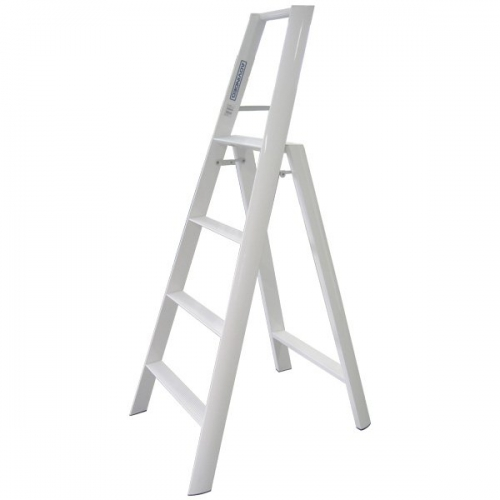 Advindeq A-type Step Ladder - AV304, 4 steps (White)