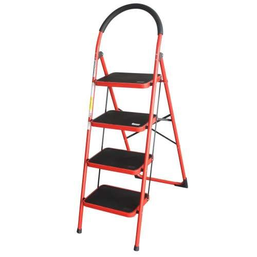 Advindeq Step Stool - ADS104, 4- step (Red)