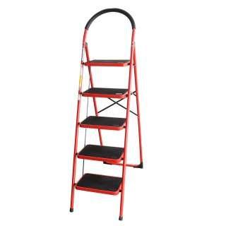 Advindeq Step Stool - ADS105, 5- Step (Red)