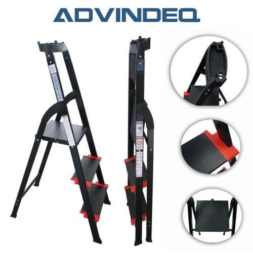 Advindeq Step Ladder with Large Platform AV-203, 3-steps